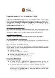 Fragen und Antworten zum Extra Day Score (EDS)