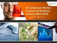 Air Compressor Market: Forecast and Statistical Analysis 2015-2019