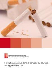 Formation continue dans le domaine du sevrage tabagigue - Résumé