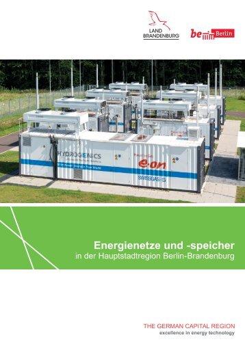 Energienetze und -speicher in der Hauptstadtregion Berlin-Brandenburg