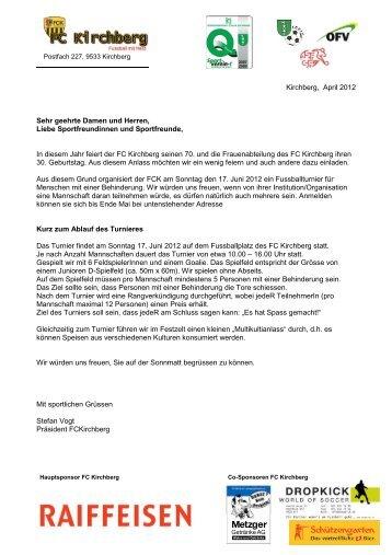 Kirchberg, April 2012 Sehr geehrte Damen und ... - FC Kirchberg SG