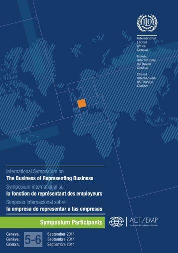 Symposium Participants - International Labour Organization
