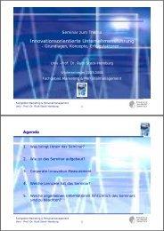 Innovationsorientierte Unternehmensführung