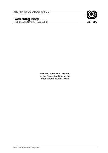 Institutional Section - International Labour Organization