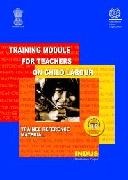 training module for teachers on child labour - International Labour ...
