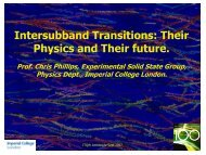 Intersubband Transitions Their Physics and Their future