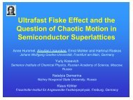 Ultrafast Fiske Effect and the Question of Chaotic Motion in ... - ITQW07