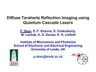 Imaging Using Terahertz QCLs