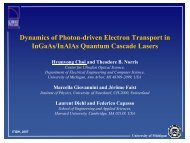 Dynamics of Photon-driven Electron Transport in InGaAs ... - ITQW07