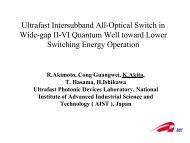 Ultrafast Intersubband All-Optical Switch in Wide-gap II-VI ... - ITQW07