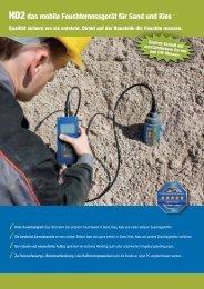 HD2das mobile Feuchtemessgerät für Sand und Kies - IMKO.de