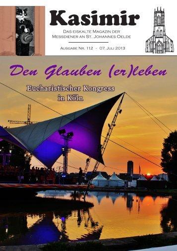 """""""Kasimir"""" 112 (Juli 2013) - Messdiener St. Johannes Oelde"""