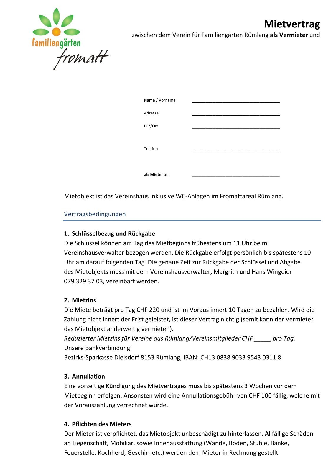 Gemütlich Musterhaus Mietvertrag Galerie - Bilder für das Lebenslauf ...