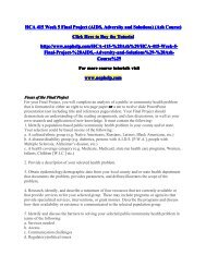 HCA 415 Week 5 Final Project (AIDS, Adversity and Solutions) (Ash Course)/uophelp