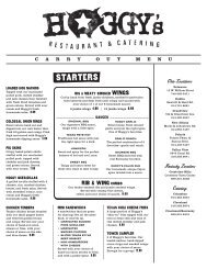 carry out menu - Hoggy's