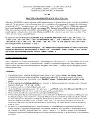 Indoor Track Tournament Packet 2012-13 - CIAC
