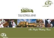 Wedding Brochure - The Sitwell Arms Hotel