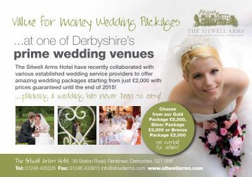 ...at one of Derbyshire's prime wedding venues