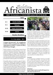 Boletim Africanista Nº 31, Ano XIII - Centro de Estudos Africanos da ...