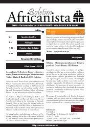 http://www.africanos.eu Índice Projectos e Base de Dados Anúncios ...