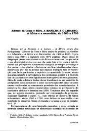 Alberto da Costa e Silva. A MANILHA E O LIBAMBO.