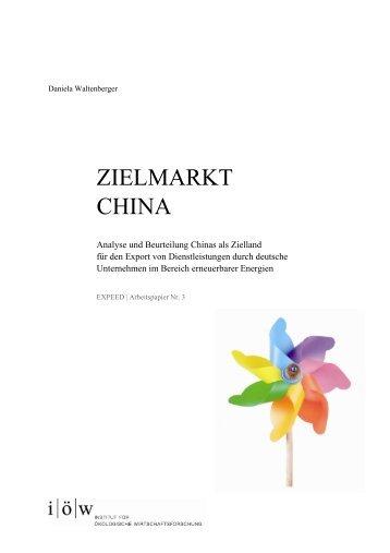 Ziellandstudie China - Institut für ökologische Wirtschaftsforschung