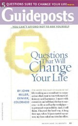 5 Questions that will Change your Life - The Salvation Army