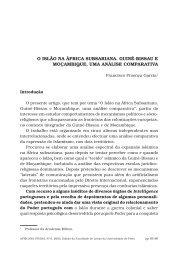 o islão na áfrica subsariana. guiné-bissau e moçambique, uma ...