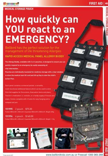 How quickly can YOU react to an EMERGENCY? STORAGE
