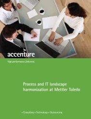 Process and IT landscape harmonization at Mettler Toledo