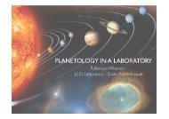 planetology in a laboratory - Enseignement en Physique à l'ENS