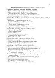Sommaire detaillé - Enseignement en Physique à l'ENS