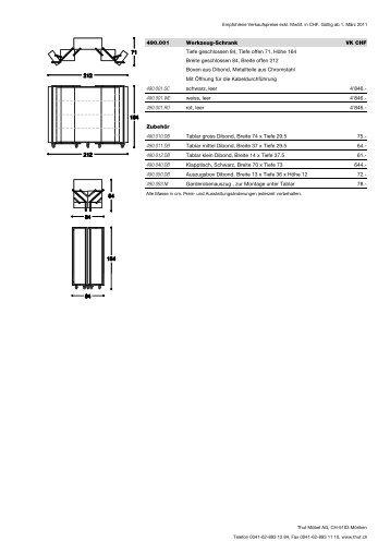 preisblatt chf pdf thut m bel. Black Bedroom Furniture Sets. Home Design Ideas