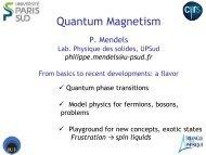 Quantum magnetism - Enseignement en Physique à l'ENS