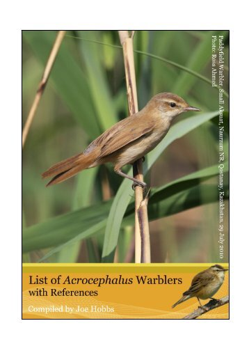 Introduction Index Version Cover Species Page No 1