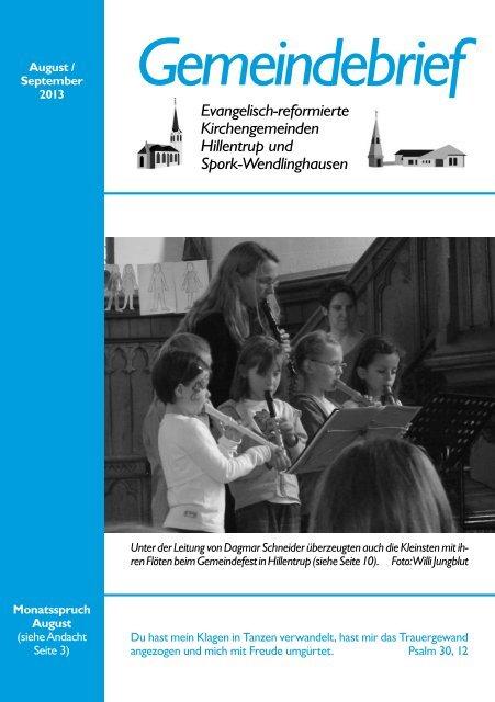Allgemeiner Teil - Kirchengemeinde Spork-Wendlinghausen