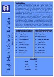 Weekly Bulletin - High March School