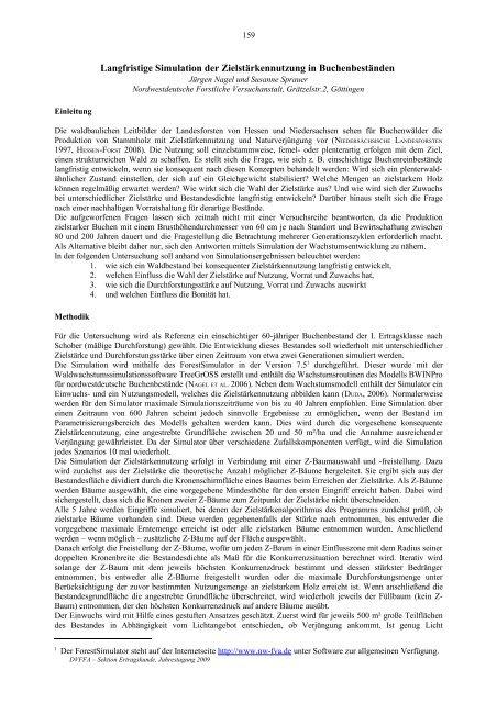 Tagungsband 2009 DVFFA – Sektion Ertragskunde ISSN 1432-2609