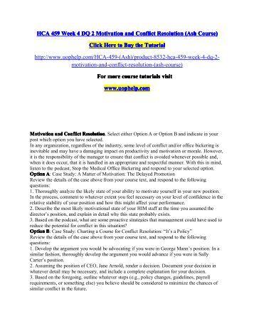 Conflict resolution essay