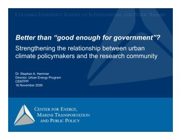 """Better than """"good enough for government""""?"""