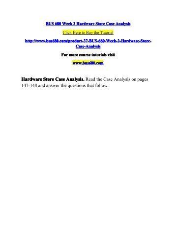BUS 680 Week 3 CSS Case Analysis