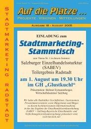 Das Stadtmarketing - Stadtmarketing Radstadt