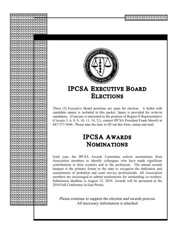 ipcsa awards nominations