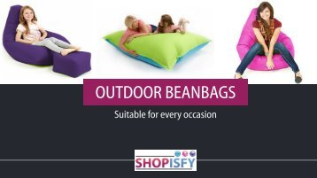Outdoor Beanbags for all Occasions