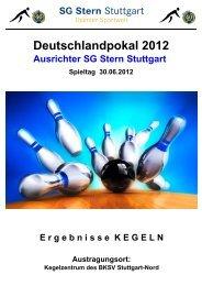 Ergebnisse Deutschlandpokal 2012 - SG Stern Deutschland