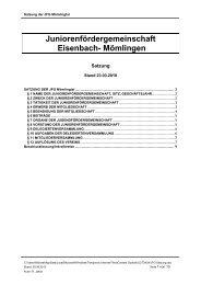Juniorenfördergemeinschaft Eisenbach- Mömlingen