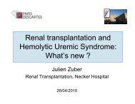 Hemolytic Uremic Syndrome What's new ?