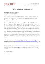 Auktionsvorschau Stammeskunst - Galerie Fischer Auktionen AG