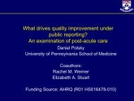 What drives quality improvement under public reporting? An ...