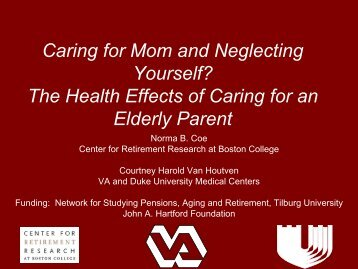 Caring for Mom & Neglecting Yourself?